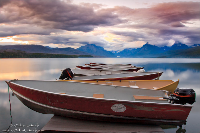 Photograph Boats Resting on Dock at Sunset by Julie Lubick on 500px