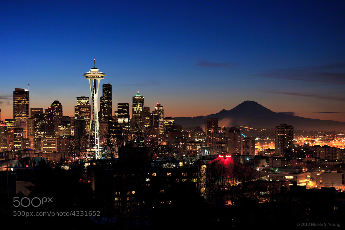 Photograph Seattle Skyline by Nicole S. Young on 500px
