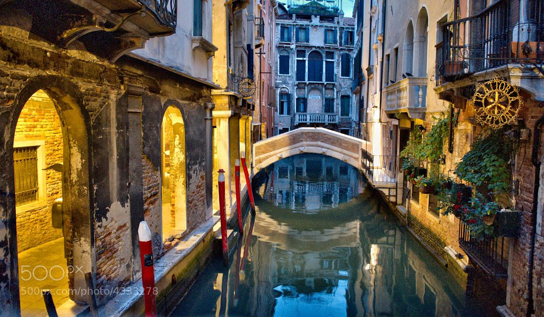 Photograph Illuminated Venetian Canal by Mark Ellison on 500px