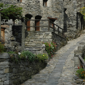 the archaic architecture of the val maggia