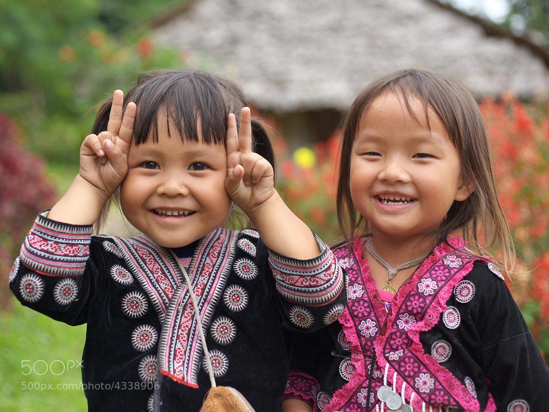Photograph Hill Tribe Girls by Tashi_Delek Nakata on 500px
