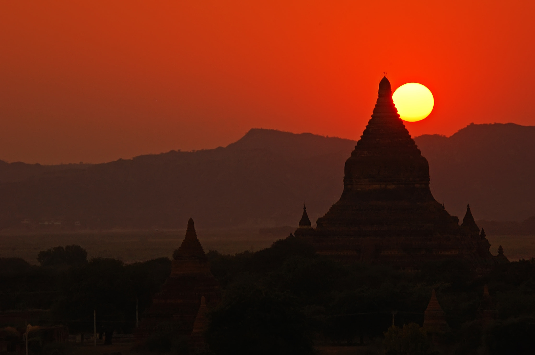Photograph Sunset in Bagan by Csilla Zelko on 500px