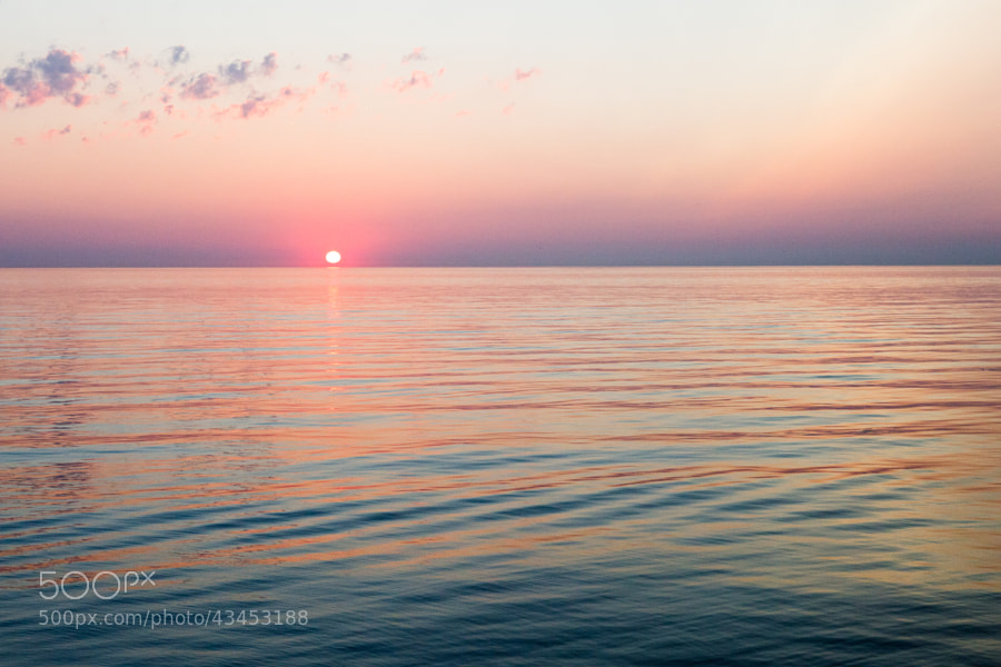 Sunrise over Lake Ontario