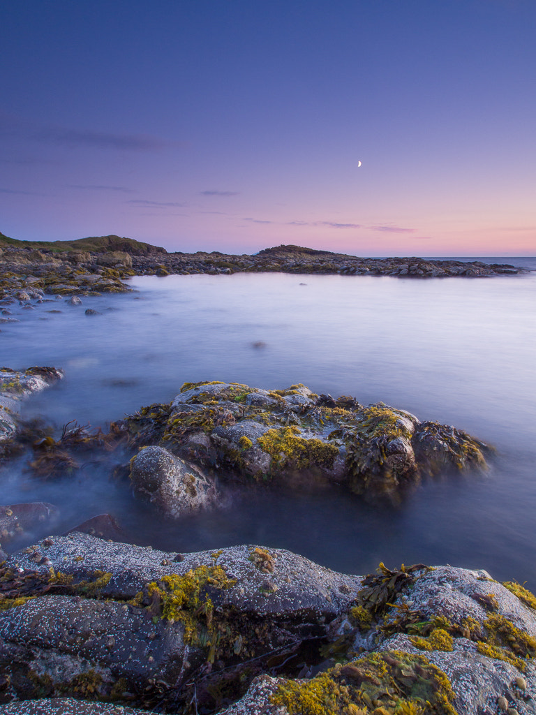 Photograph Moon Over Dunure by Keith Muir on 500px