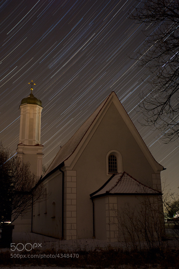 "Photograph Startrail over the ""Ried""-church by Timm Kasper on 500px"