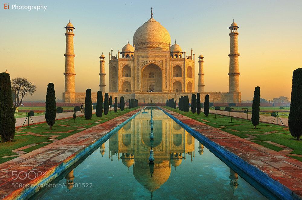 Photograph Taj Mahal Sunrise by Leon Zhang on 500px