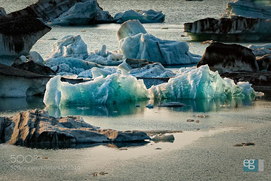 Photograph Jökulsárlón Clear Blue by Ed Gately on 500px