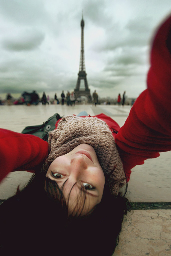 Photograph Selfportrait with Eiffel by Nastia Sokolova on 500px