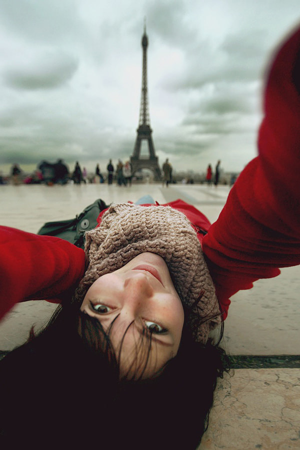 Selfportrait with Eiffel by Nastia Sokolova on 500px.com