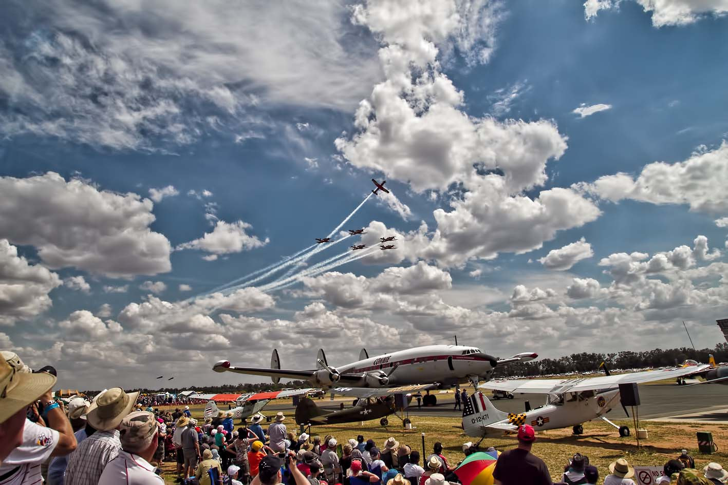 Photograph RAAF Roulettes at Warbirds Downunder Nov 2011 by Ecevik on 500px