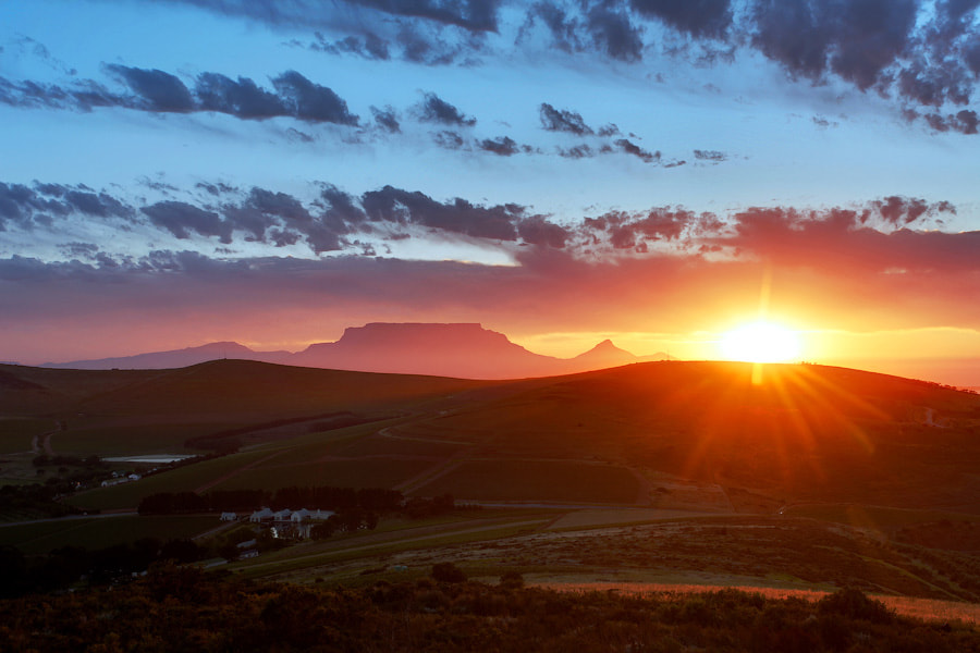 Photograph Table Mountain Silhouette by Chris  Cloete on 500px