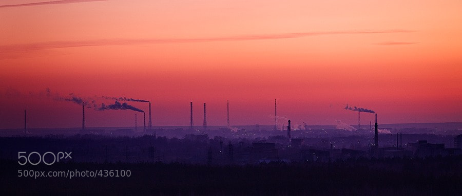 Photograph Industrial sunset by Alexandr Zudin on 500px