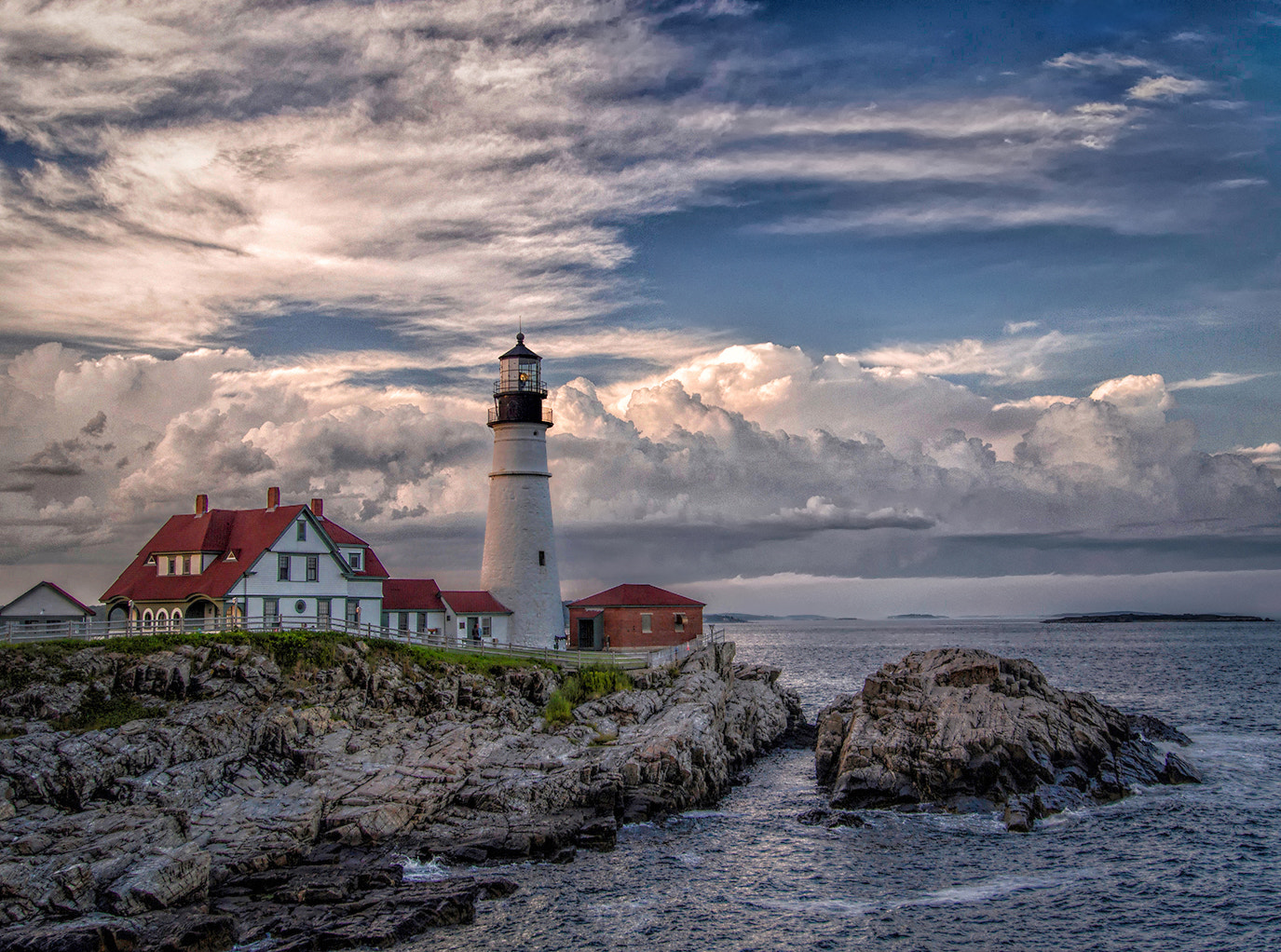 Photograph Clouds, Portland Head Light by Alan Borror on 500px