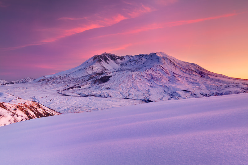 Photograph Winter Sunset, Mt. St. Helens by Kevin  Pieper on 500px