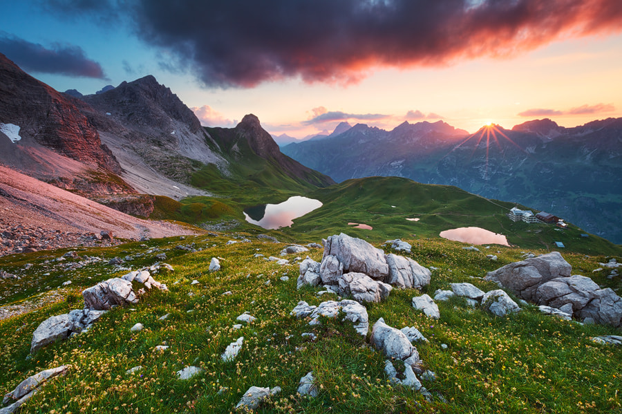 Photograph Alpine Sunset by Michael  Breitung on 500px