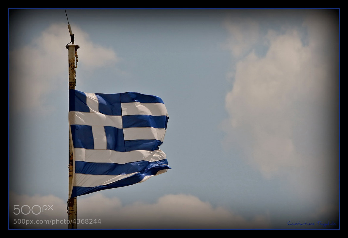 Photograph Greek Flag of Parthenon by Konstantinos Tsagkalidis on 500px