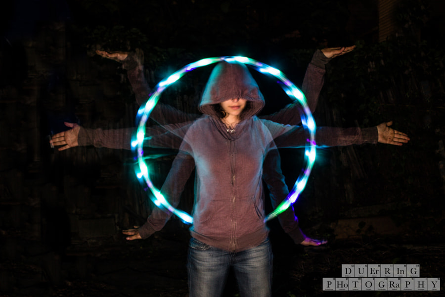 Photograph LED Hoop Light Painting by Douglas Duerring Photography on 500px
