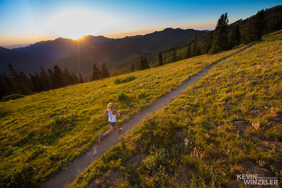 Photograph Running at sunset on the Utah trails by KevinWinzeler.com  ~ sports, lifestyle on 500px