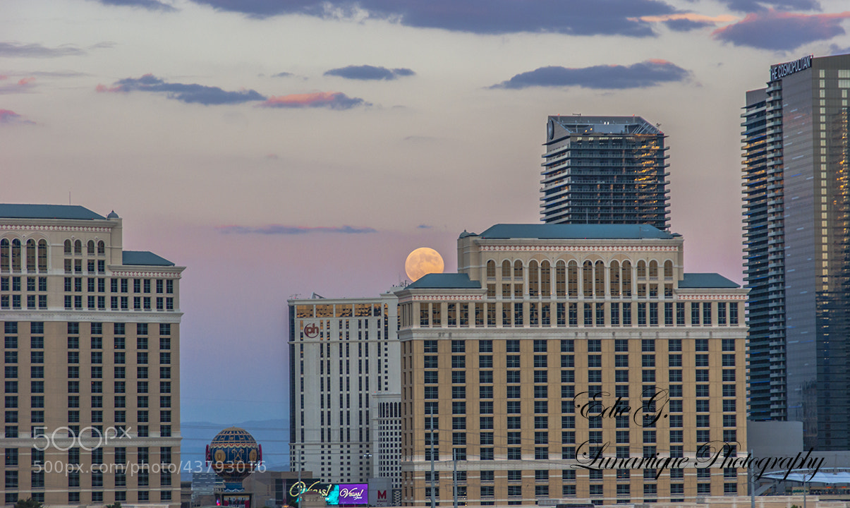 Photograph Full Moon Over Las Vegas by Edie G. on 500px