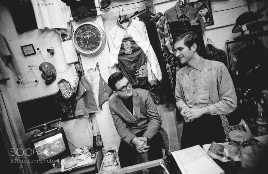 Photograph Gay couple in a vintage shop | East London 2010 by Marco Carboni ...
