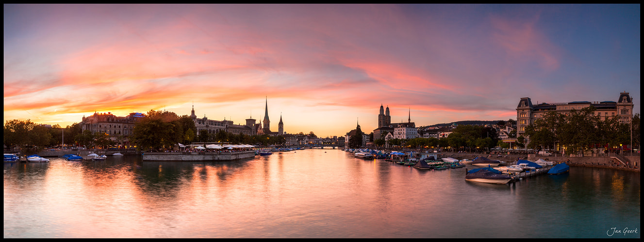 Photograph Burning Sky over Zürich by Jan Geerk on 500px