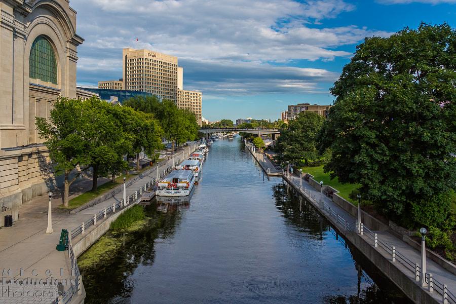 Rideau Canal-UAbove the lockes--Ottowa Canada