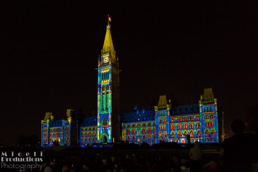 Mosaika Sound and Light Show 2 Ottowa Canada