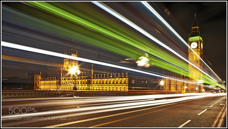 Photograph Big Ben - Light Trails - Warp Speed 10 by Antony  Williams on 500px