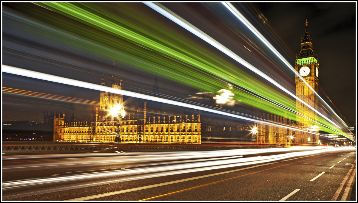 Photograph Big Ben - Light Trails - Warp Speed 10 by Antony Williams on 500px