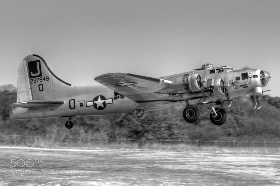 "The Boeing B-17G Flying Fortress ""Liberty Belle"" - B&W Treatment"
