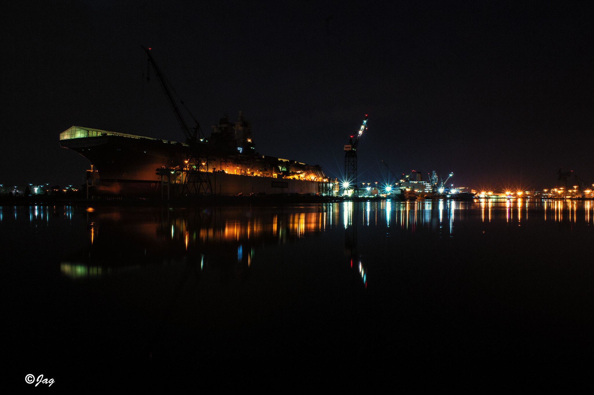 Photograph Portsmouth shipyard at Night by James Gramm on 500px