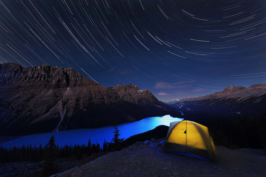 Photograph Peyto lake stars by victor Liu on 500px