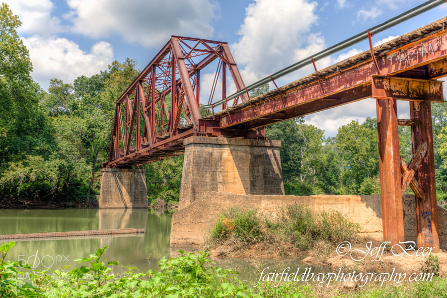 This old railroad bridge has been converted for automobiles, and is still in use today.