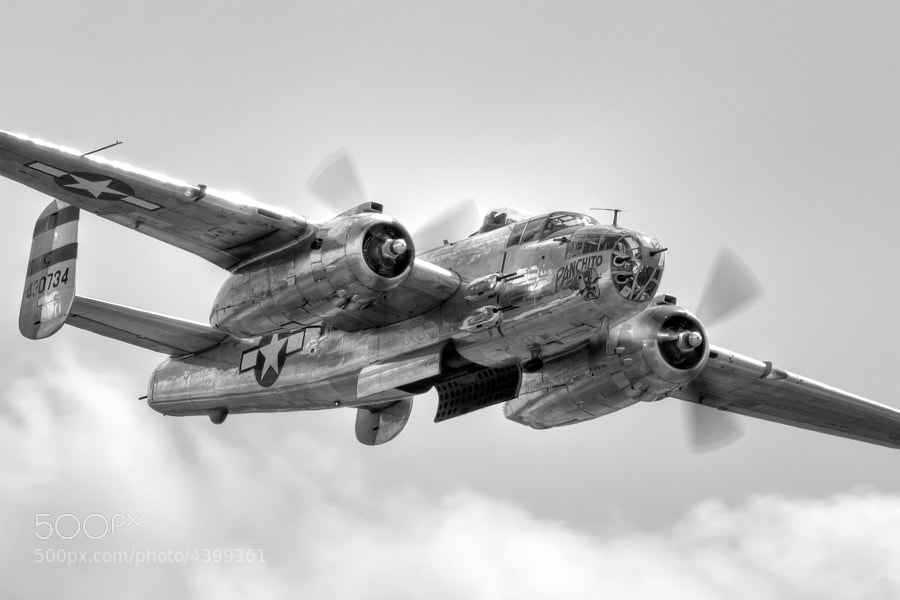 "B-25 Mitchell ""Panchito"" over Columbus, GA"