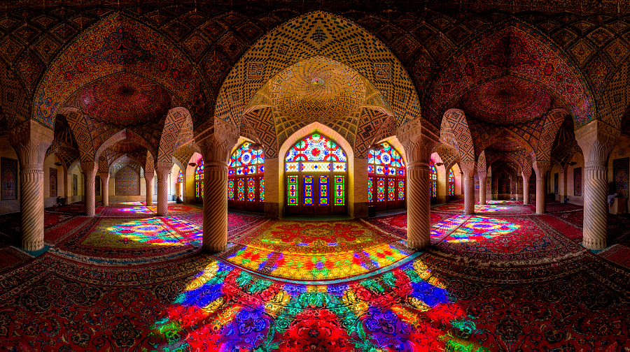 Photograph Nasir Al-Mulk Mosque Panorama by Mohammad Reza Domiri Ganji on 500px