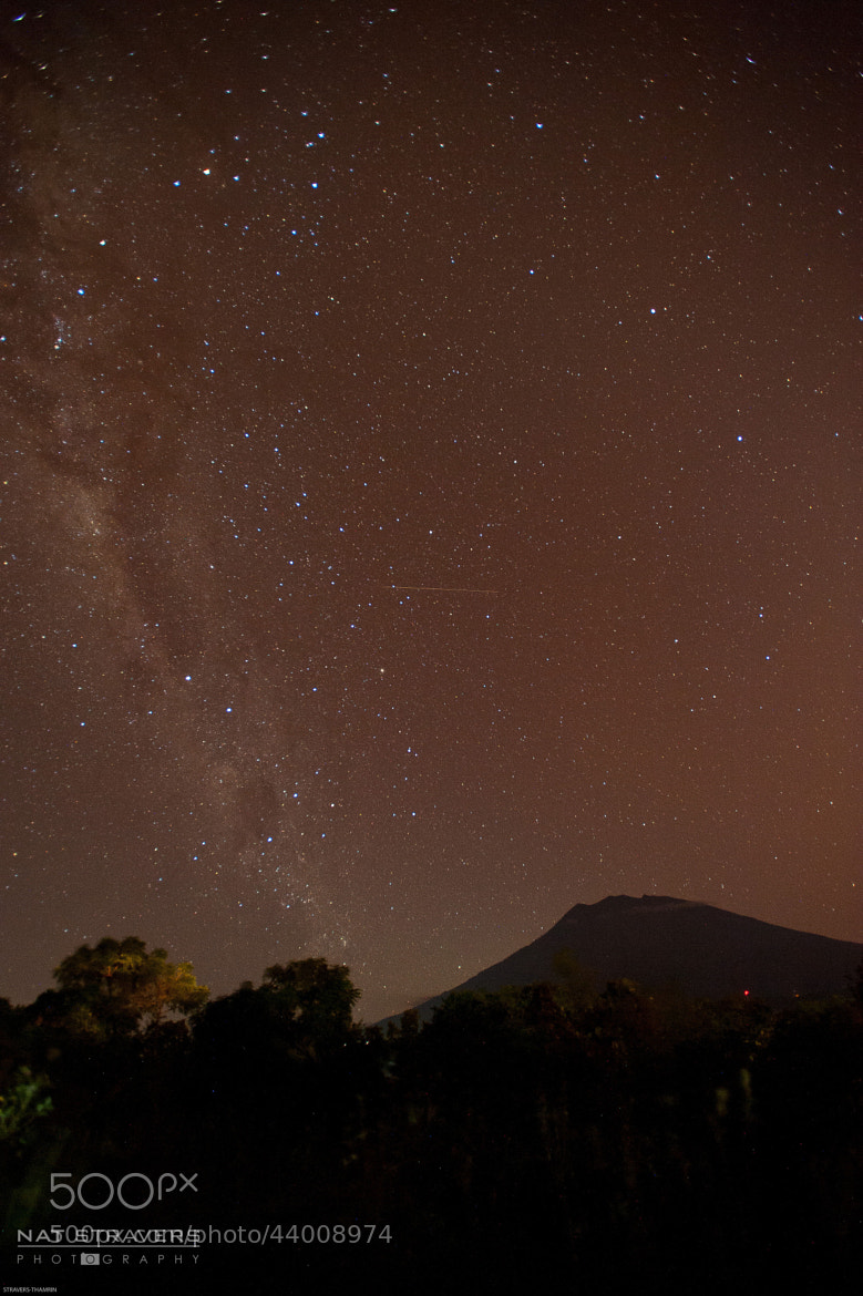 Photograph Milky way above Agung mountain by Nathalie Stravers on 500px