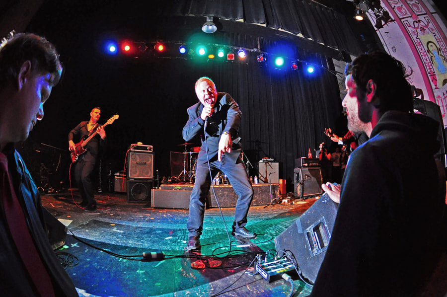 Brian Zero performing with the band Siren