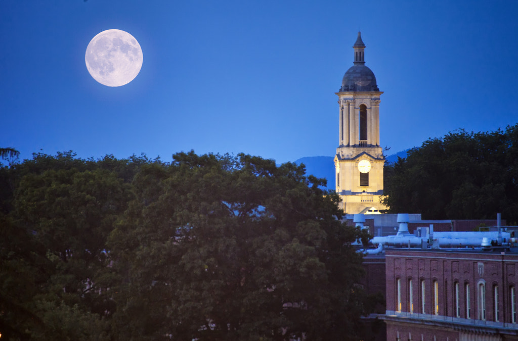 Photograph Super Moon Over Old Main Building of PSU by Jiang Ming on 500px