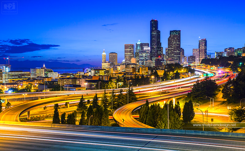 Photograph Seattle at Night! by Nhut Pham on 500px