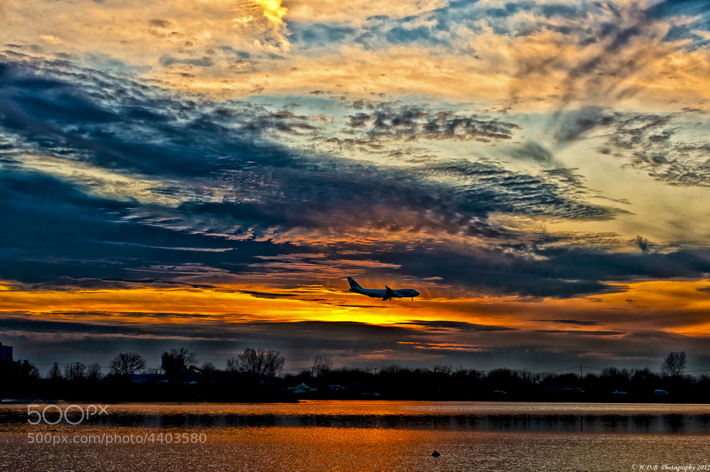 Photograph Sunset landing by Harold Begun on 500px
