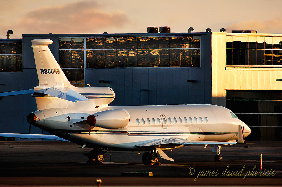 DASSAULT AVIATION  FALCON 7X parked for the evening.  Please do not use without permission or compensation.   © James David Phenicie   All Rights Reserved.