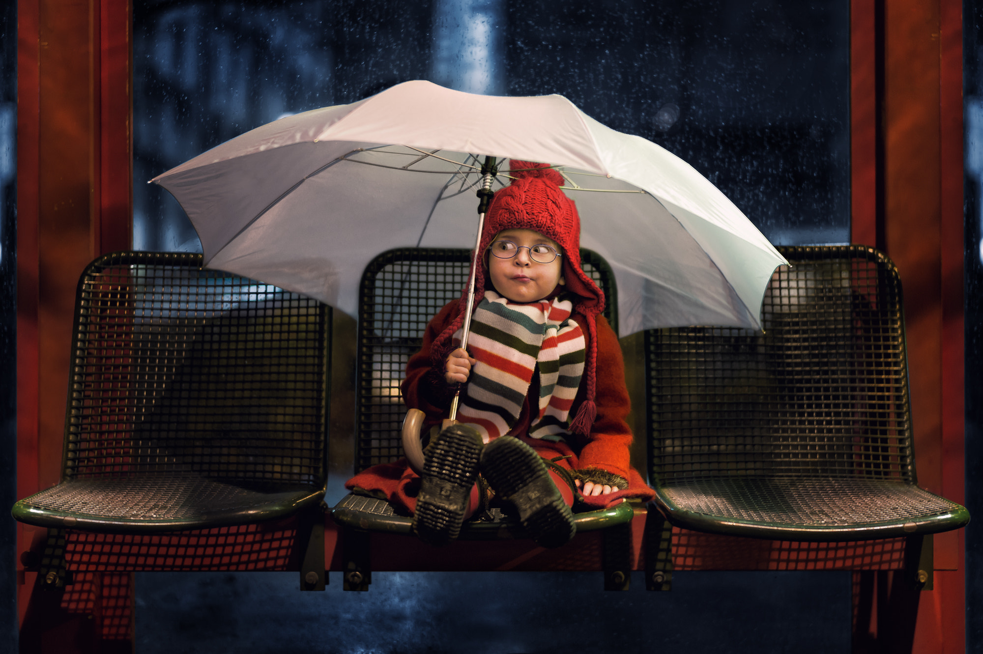 Photograph Bus stop by John Wilhelm is a photoholic on 500px