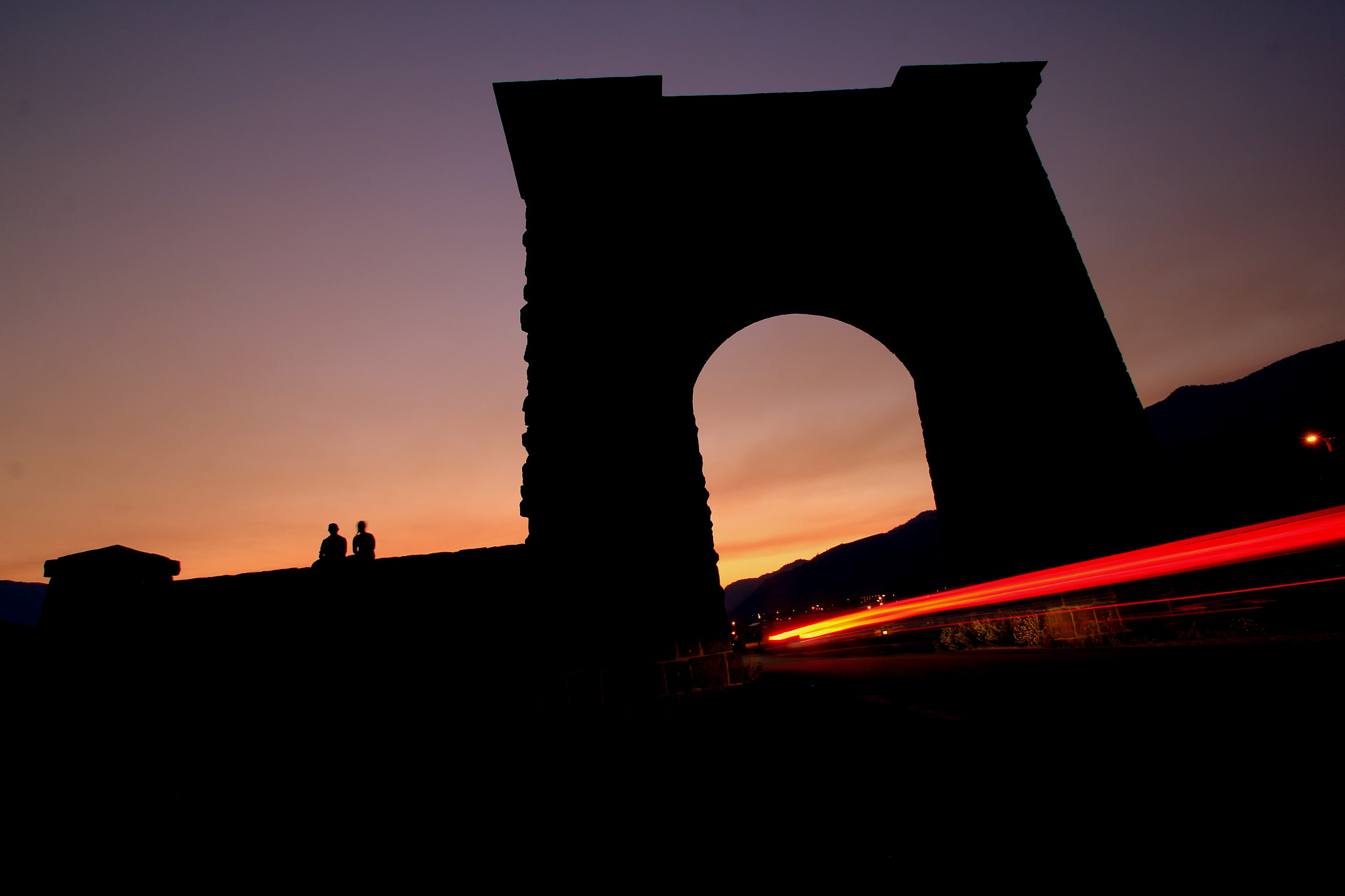 Photograph Roosevelt Arch Sunset by Jag Canape on 500px