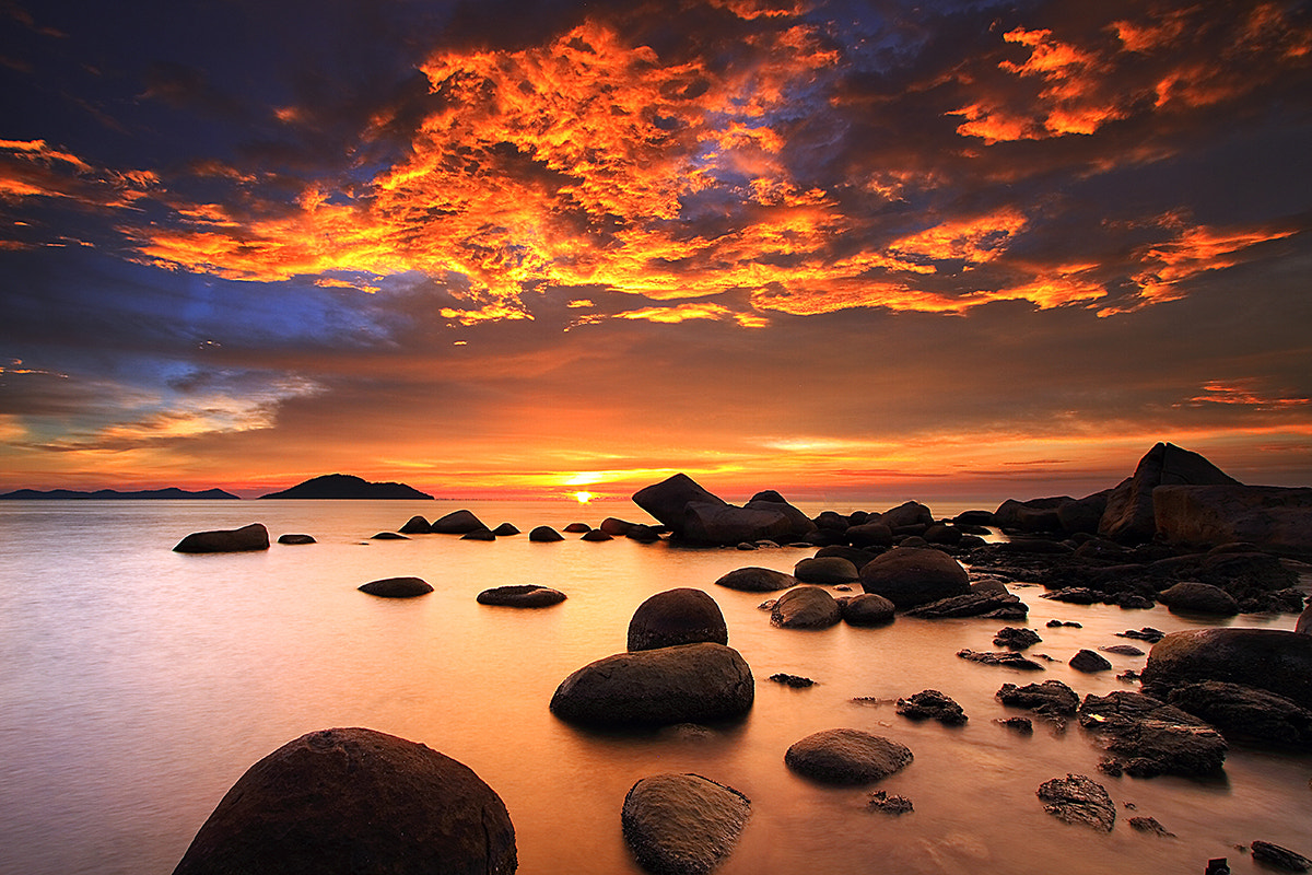 Photograph Sunset at Samudera Beach by Frumensius Dominggo on 500px