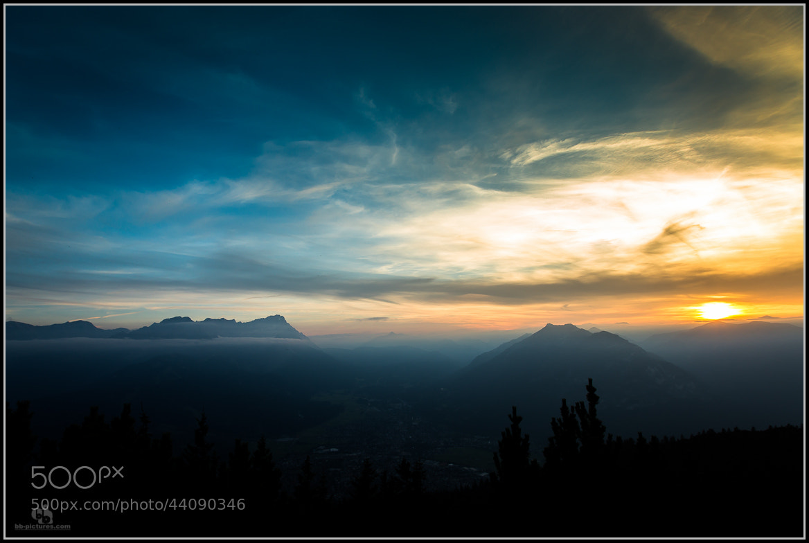 Photograph sunset view zugspitze by bb-pictures I bb-pictures I on 500px