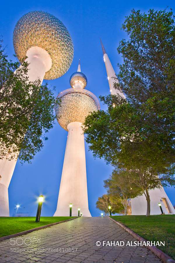 The iconic Kuwait Towers designed by Sune Lindström, and built in 1979.