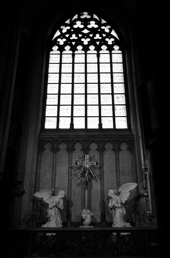 Photograph Stained Glass Window Over a Small Altar by Enrico Maria Crisostomo on 500px