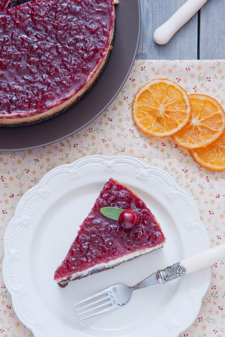 Photograph Cranberry orange cheesecake by letterberry on 500px