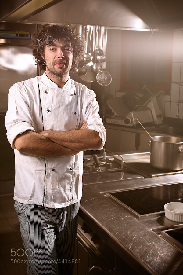 Portrait of a young chef