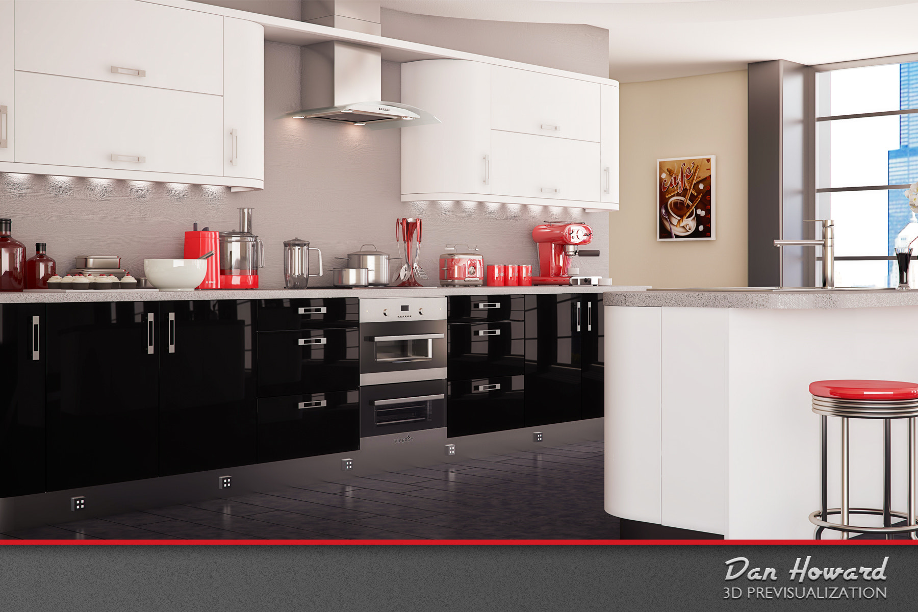 Photograph 3D Kitchen Interior Previsualization by Dan Howard on 500px